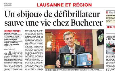 Defibrillator retten Leben in Laden Lausanne Schweiz