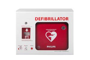 Wandschrank Philips Defibrillator mit Alarm